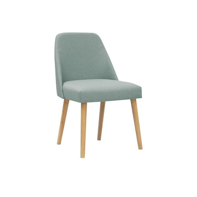 (As-is) Miranda Chair - Natural, Sea Green - 1 - 0