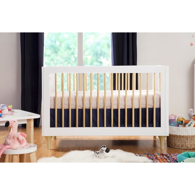 Babyletto Lolly 3-in-1 Convertible Crib - White & Natural - 2