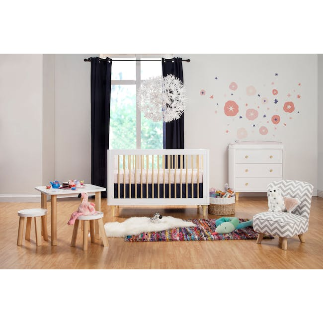 Babyletto Lolly 3-in-1 Convertible Crib - White & Natural - 7