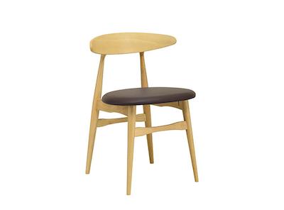 San Francisco Dining Chair - Natural, Mocha - Image 1