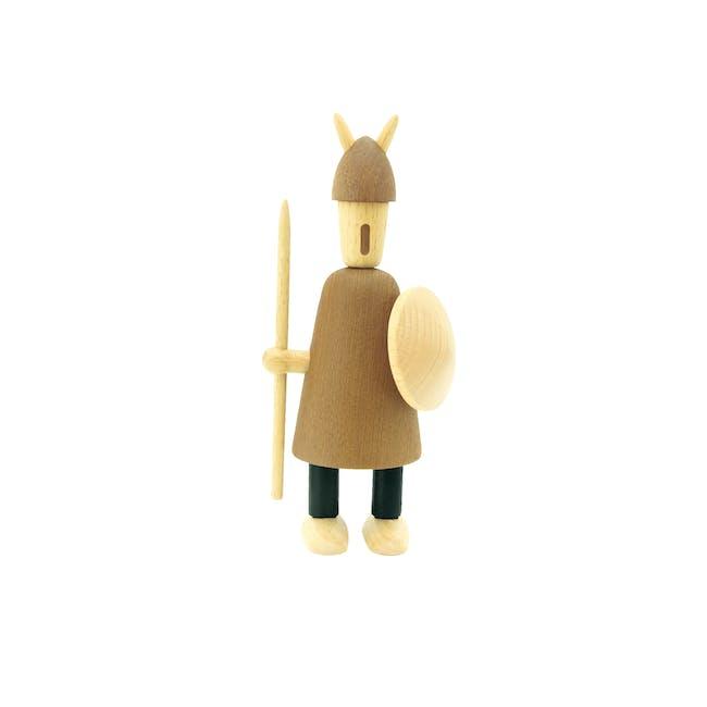 Barnaby the Warrior - Teak Wood Sculpture (Large) - 0