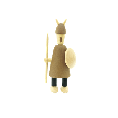 Barnaby the Warrior - Teak Wood Sculpture (Large) - Image 2