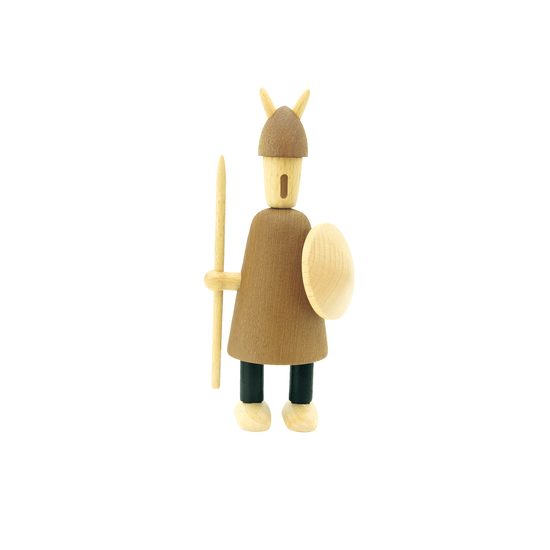 Helga - Barnaby the Warrior - Teak Wood Sculpture (Large)