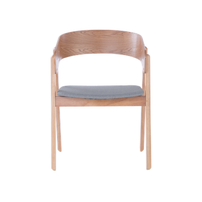 Venice Dining Chair - Oak, Light Grey - Image 2