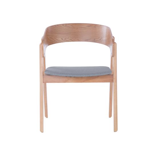 Venice Dining Chair Oak Light Grey