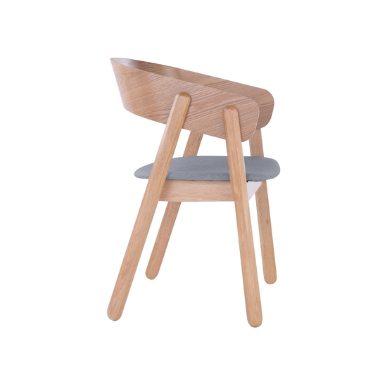 Dining Chairs by HipVan - Venice Dining Chair- Oak, Light Grey