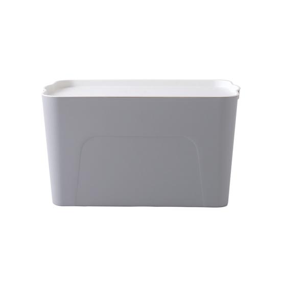1688 - Clayton 28L Grey Storage Box with White Lid