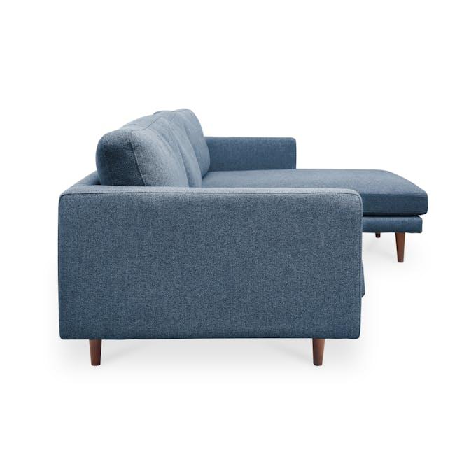 Declan L-Shaped Sofa - Walnut, Admiral Blue - 3