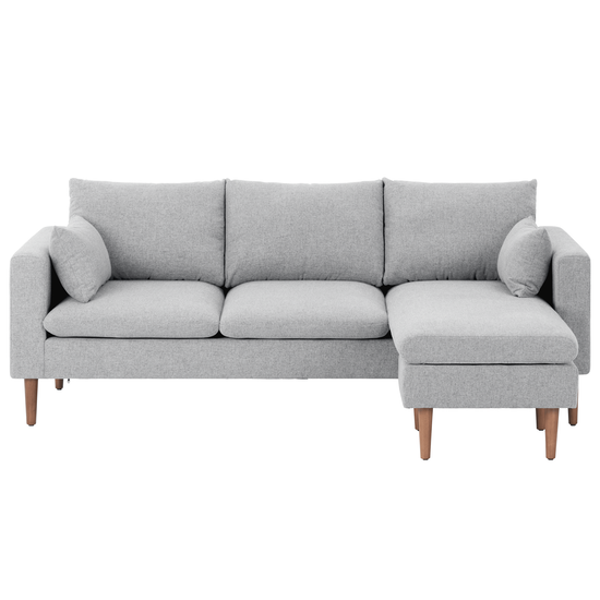Alicia L-Shaped Sofa - Light Grey