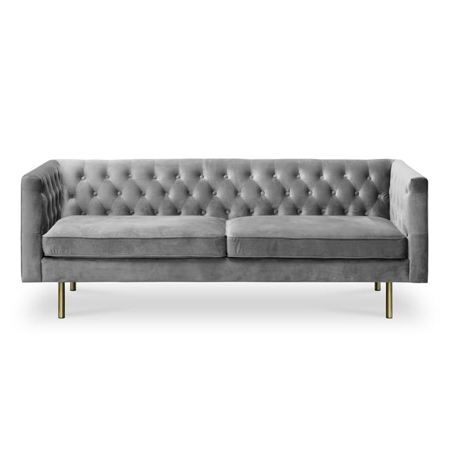 Cadencia 3 Seater Sofa - Anchor Grey (Velvet) - 0