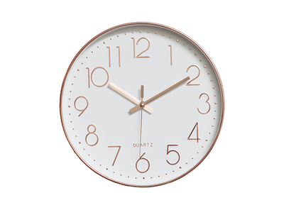 Rose Gold Wall Clock - Image 1