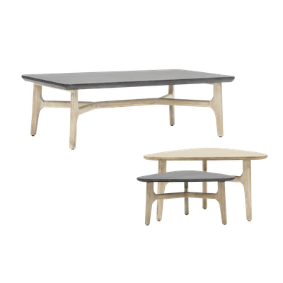 Hendrix Coffee Table with Hendrix Coffee Table Set of 2 - Image 1