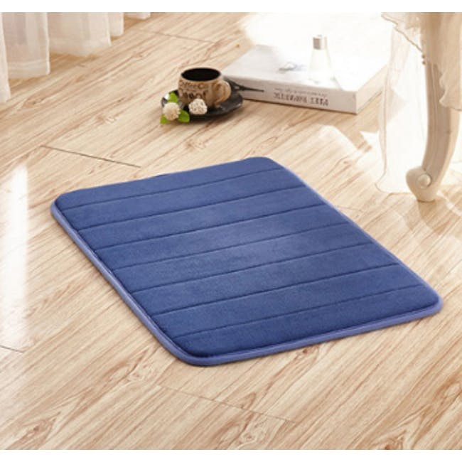 Essentials Memory Foam Floor Mat - Indigo - 1