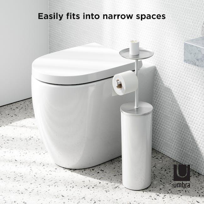 Portaloo Toilet Paper Stand with Storage - White - 8