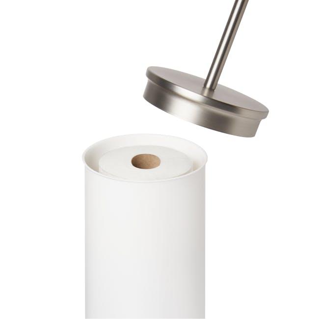 Portaloo Toilet Paper Stand with Storage - White - 1