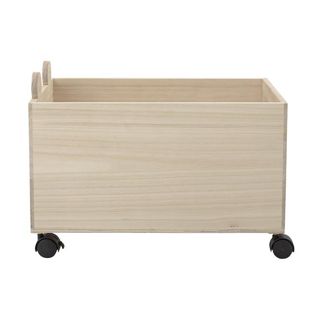 Ozzie Beaver Storage Box with Wheels - Taupe - 2