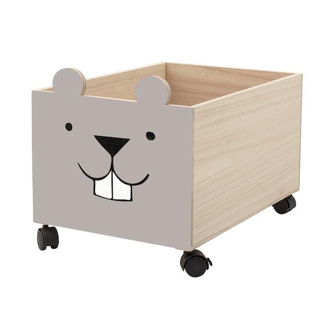 Ozzie Beaver Storage Box with Wheels - Taupe - 1