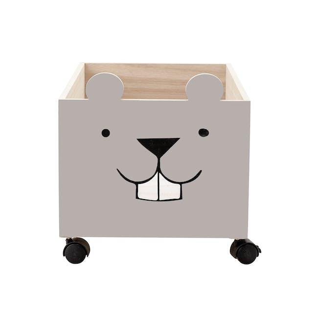 Ozzie Beaver Storage Box with Wheels - Taupe - 0