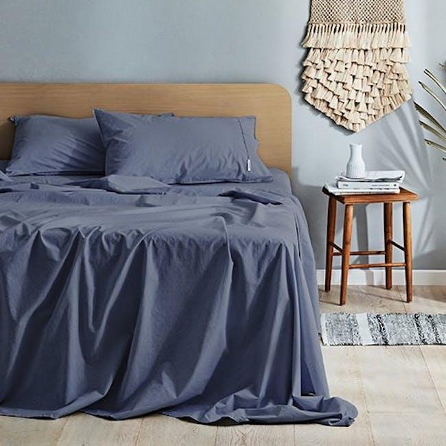 Canningvale Vintage Quilt Cover Set - Bombay Blue (2 Sizes) - 0