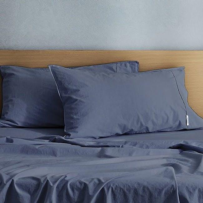 Canningvale Vintage Quilt Cover Set - Bombay Blue (2 Sizes) - 2