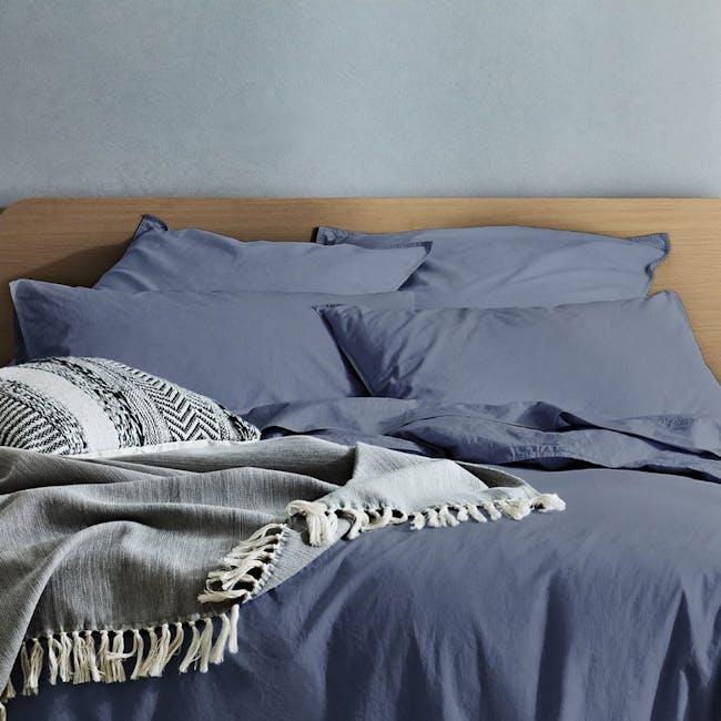 Canningvale Vintage Quilt Cover Set - Bombay Blue (2 Sizes) - 1