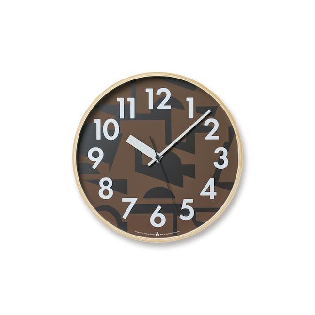 Noyama Clock - Brown - 0