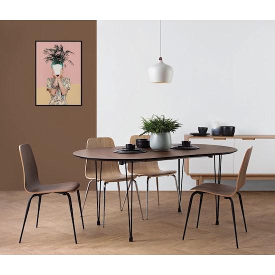 Laholm Rikku Extendable Dining Table 1 7m Walnut Black Hipvan