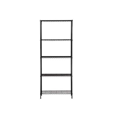 5-Tier Multi Utility Shelf L75 cm - Black - Image 2