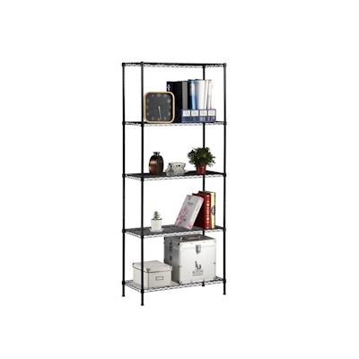 5-Tier Multi Utility Shelf L75 cm - Black - Image 1