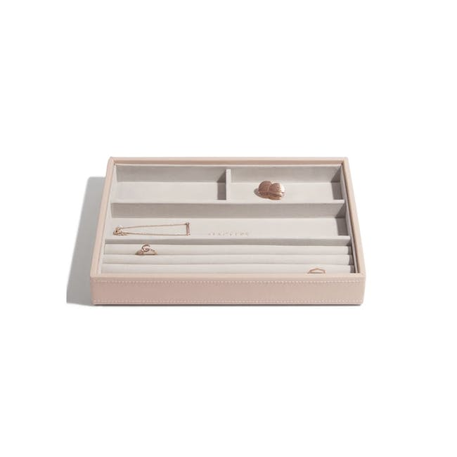 Stackers Classic 4 Compartment Ring/ Bracelet Layer - Blush - 0