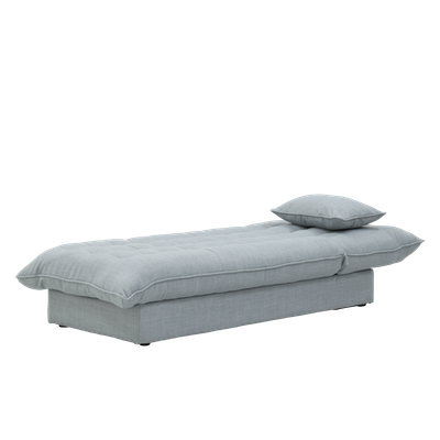 Tessa Storage Lounge Bed - Silver - Image 2