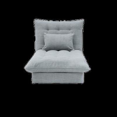 Tessa Storage Lounge Bed - Silver - Image 1
