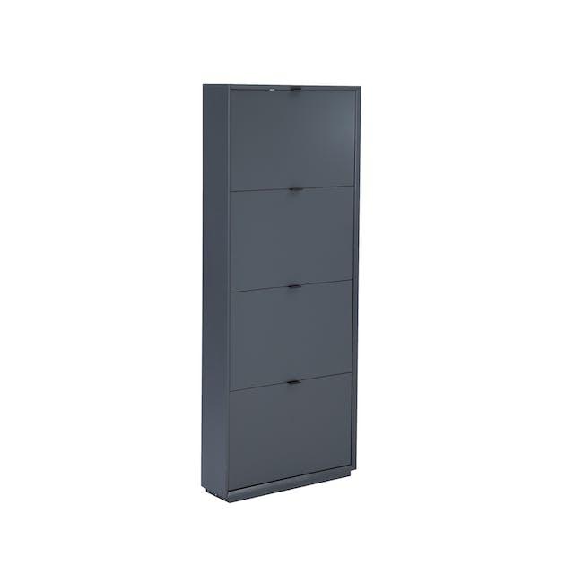 ( As-is ) Quen 4 Door Shoe Cabinet - Grey - 1 - 0