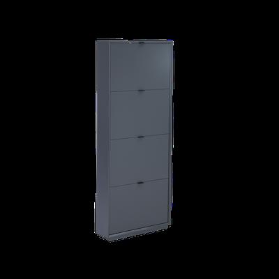 Quen 4 Door Shoe Cabinet - Grey - Image 1