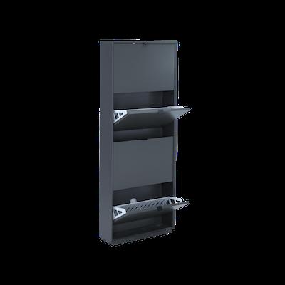 Quen 4 Door Shoe Cabinet - Grey - Image 2