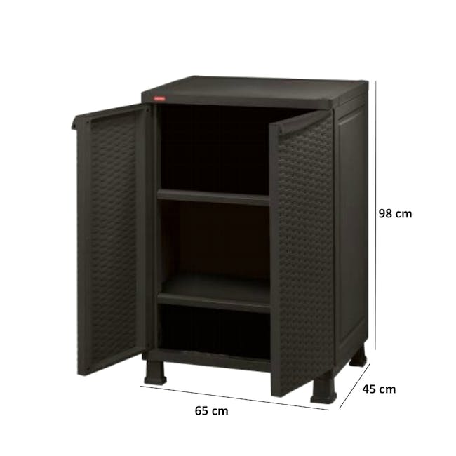 Rattan Wall and Base with Legs - Dark Brown - 4