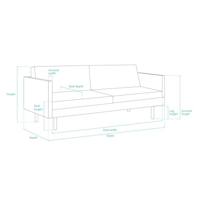 Noel 2 Seater Sofa Bed with Noel Sofa Bed - Harbour Grey - 6