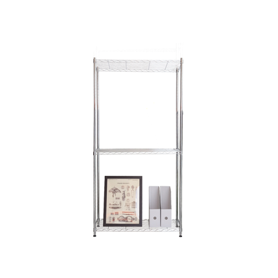 3-Tier Multi Utility Shelf L60 cm - Chrome - Image 2