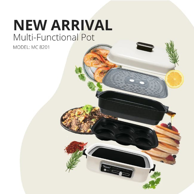 TOYOMI Multi Functional 3-in-1 HotPot + Grill + Steamer MC 8201 - 10