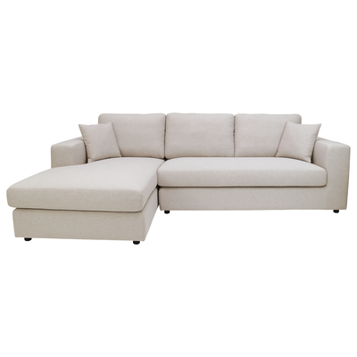 Cream l shaped sofa l shaped sofas online in singapore for Small sofa singapore