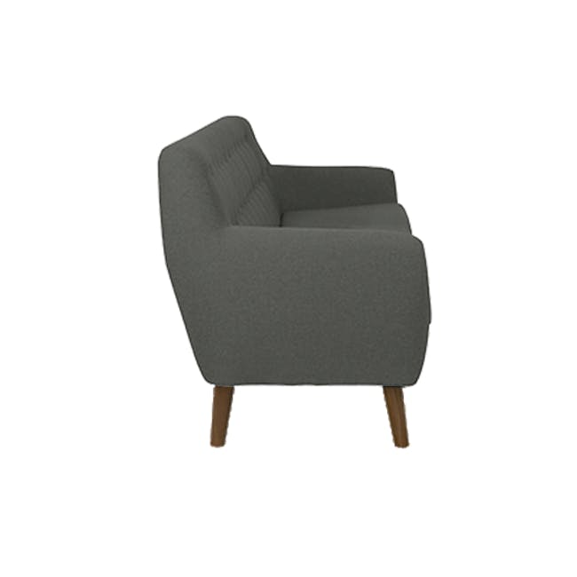 Emma 3 Seater Sofa with Emma Armchair - Raven - 3