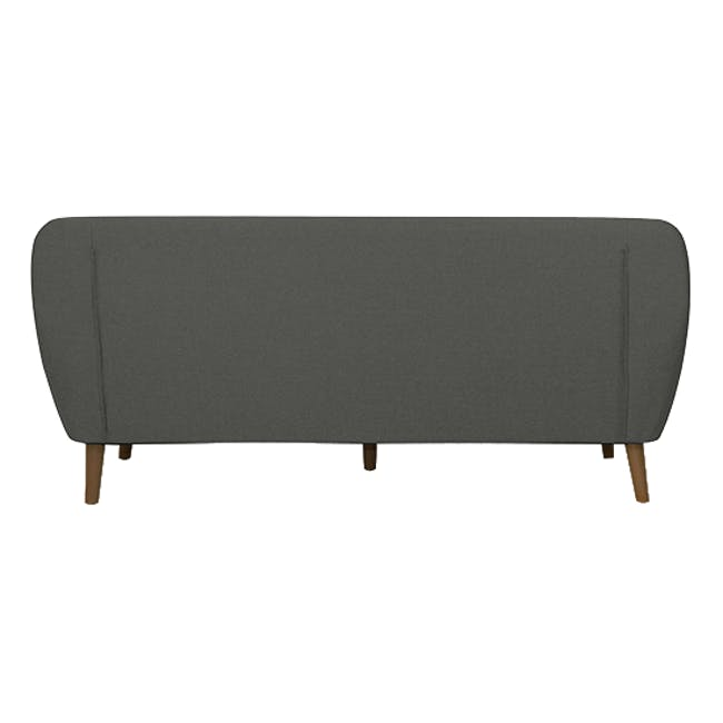 Emma 3 Seater Sofa with Emma Armchair - Raven - 4