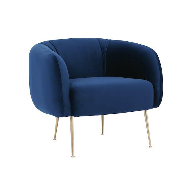 Alero 2 Seater Sofa with Alero Armchair - Midnight Blue - 3