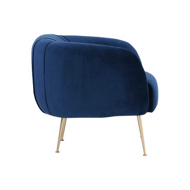 Alero 2 Seater Sofa with Alero Armchair - Midnight Blue - 4