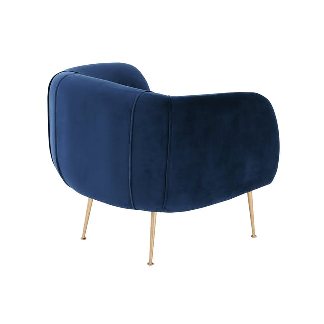 Alero 2 Seater Sofa with Alero Armchair - Midnight Blue - 5