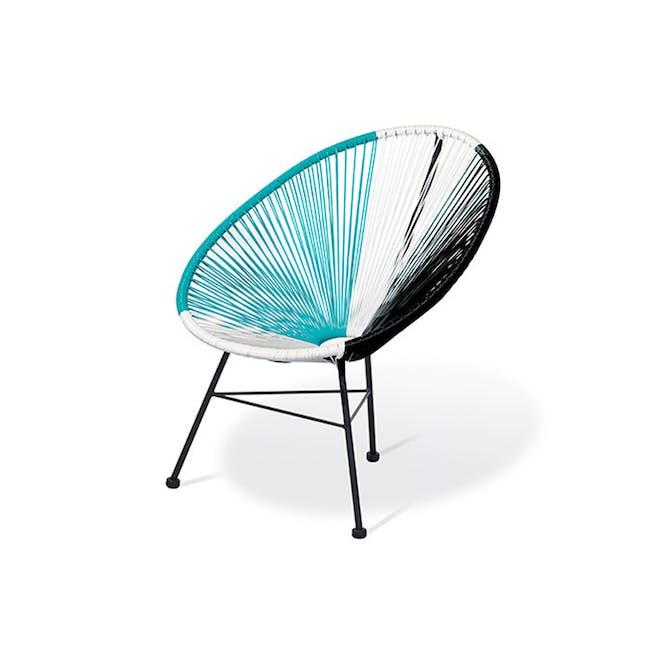 Acapulco Lounge Chair - Robin Blue, White, Black Mix - 0