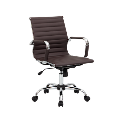 Eames Mid Back Office Chair - Brown (PU) - Image 2