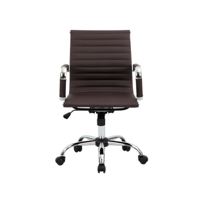 Eames Mid Back Office Chair - Brown (PU) - Image 1