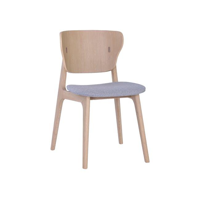 Fabiola Dining Chair - Squirrel Grey, Oak - 0