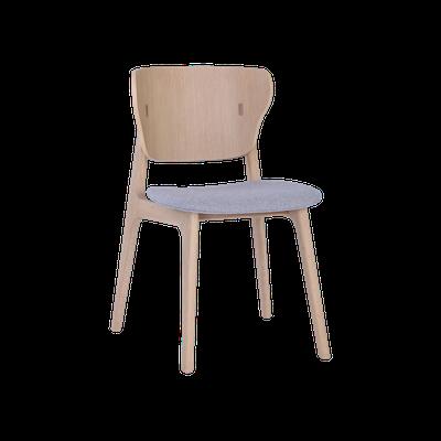 Fabiola Dining Chair - Squirrel Grey, Oak - Image 1